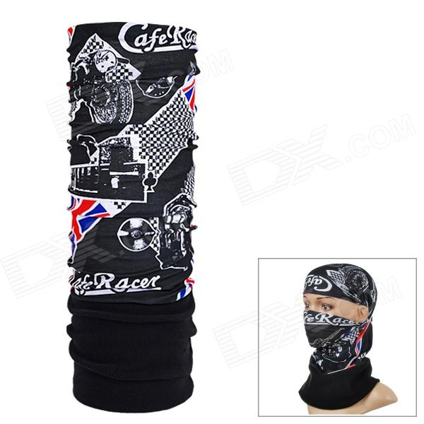 NUCKILY PH01 Outdoor Fleece Polyester Fiber Headscarf - Black + White