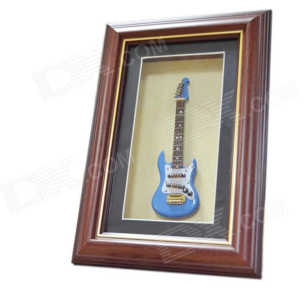 DEDO MG-337 Frame Decoration Electric Guitar Model Frame Guitar Gift - Blue + Brown
