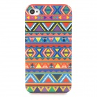 Stylish Triangles Graffiti Pattern TPU Back Case for Iphone 4 / 4s - ACU
