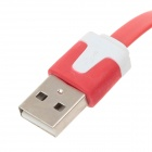 Flat Micro USB to USB 2.0 Data Charging Cable for Phones - Red (2m)