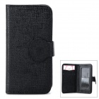 TWP-U32 Protective PU Leather Flip Open Case for Iphone 4 / 4S / 5s / 5c - Black
