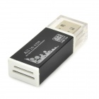 USB 2.0 SD / MS / TF / Micro SD / M2 kortinlukija - musta (max. 32GB)