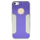 DETI-002 Stylish PC + Alloy Back Case for Iphone 5 / 5s - Purple