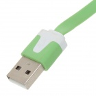 Flat Micro USB to USB 2.0 Data Charging Cable for Phones - Green (1m)