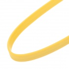 Flat Micro USB to USB 2.0 Data Charging Cable for Phones - Yellow (1m)