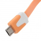 Piso Micro USB macho a USB 2.0 Male Data Sync / cable de carga para Samsung + Más - Orange (100 cm)