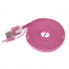 Flat Micro USB Male to USB 2.0 Male Data Sync / Charging Cable for Samsung + More -Deep Pink (200cm)