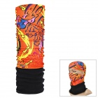 NUCKILY PH12 Outdoor Fleece Polyester Fiber Headscarf - Black + Orange