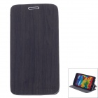 Stylish Wood Pattern Protective PU Leather Case Stand for Samsung Galaxy Note 3 - Dark Grey + Black