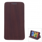 Stylish Wood Pattern Protective PU Leather Case Stand for Samsung Galaxy Note 3 - Reddish Brown