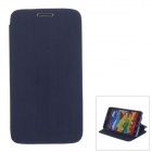 Stylish Wood Pattern Protective PU Leather Case Stand for Samsung Galaxy Note 3 - Black Blue