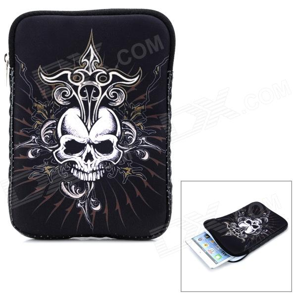 Okade Skull Pattern Neoprene Protective Sleeve Bag for 7 Cell Phone / Tablet PC - White + Black protective nylon holster pouch with clip for cell phone red black size s