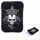 "Okade Skull Pattern Neoprene Protective Sleeve Bag for 7"" Cell Phone / Tablet PC - White + Black"