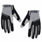 TOPCYCLING TOP901 Cycling Nylon Anti-slip Full Finger Gloves - Black + Grey (M)