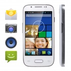 "HAPYTECH H3069 MTK6572 Android 4.2 Dual-Core WCDMA Bar Phone w/ 4.0"" Capacitive Screen, GPS - White"