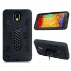 Robot Style Protective Plastic + Silicone Back Case Stand for Samsung Galaxy Note 3 N9000 - Black