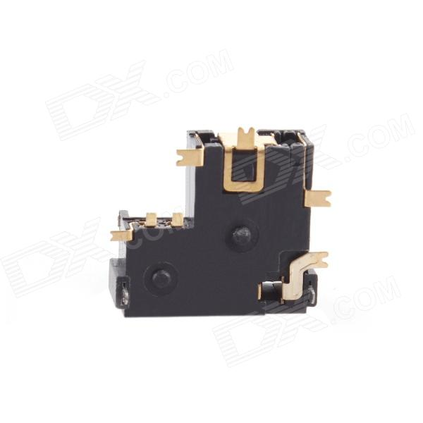 008 C-4 Replacement Earphone Jack Socket Module for Nintendo NDSL - Black brand new replacement card slot card socket for ndsl nintendo ds lite free shipping