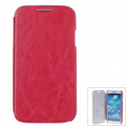 SAYOO 2343 Protective PU Leather Back Case Cover for Samsung Galaxy S4 i9500 - Red