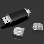 Unique USB 2.0 + Micro USB OTG Flash Drive - Black (8GB)
