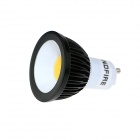 KingFire GU10 3W 240lm 3500K COB LED Warm White Light Spotlight Bulb - Black + White (220~240V)