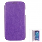SAYOO 2346 Protective PU Leather Back Case Cover for Samsung Galaxy S4 i9500 - Purple