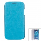 SAYOO 2347 Protective PU Leather Back Case Cover for Samsung Galaxy S4 i9500 - Aquamarine