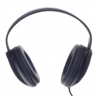 Microkingdom A8 USB Wired Stereo Headphones w/ Microphone / Wired Control - Black + Silver