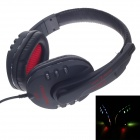Raoopt G727 USB 3D Stereo Sound Pro Hi-Fi Headphones w/ Microphone / Wired Control - Black