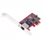 PCI-E LAN Card for Desktop Computer - Red + Silver
