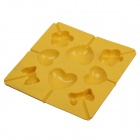 DIY Chocolate / Candy Silicone Mold w/ Sticks - Yellow