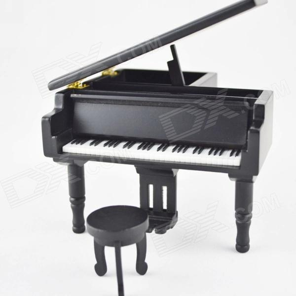 DEDO MG-346 Gifts Wooden Piano Music Box - Black