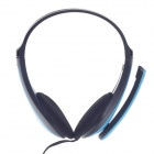 Raoopt RP-588 Stereo Sound Headphones w/ Microphone - Blue + Black (3.5mm Plug / 240cm-Cable)