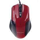 Microkingdom Q9100 USB 2.0 Wired 800/1200/1800DPI Optical Mouse - Red + Black (142cm-Cable)