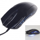 Microkingdom Q9200 USB 2.0 Wired 800/1200/1800DPI Optical Mouse - Black (142cm-Cable)