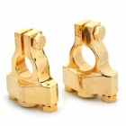 D007 Car Negative / Positive Battery Clips Set - Golden