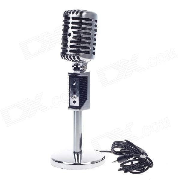 R8-M06 Net Chat Network Microphone Computer Karaoke Microphone - Silver (3.5mm Plug / 192cm-Cable)
