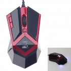 R8 1620 Wolverine USB Wired Gamer 800/1200/1600DPI Optical Mouse - Dark Red + Black (140cm-Cable)