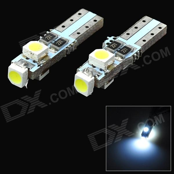 T5 0.5W 8lm 6000K 3-SMD 1210 LED White Car Instrument Lights (12V / 2 PCS)