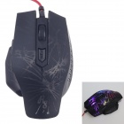 R8 1650 Commander Series Crack Light Luminescence USB 2.0 Wired Gaming Mouse - Black (165cm-Cable)
