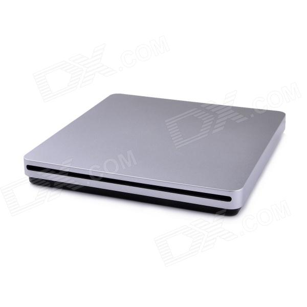 Super Slim USB 2.0 Slot-in DVDRW External Optical Drive for Macbook - Silver + Black