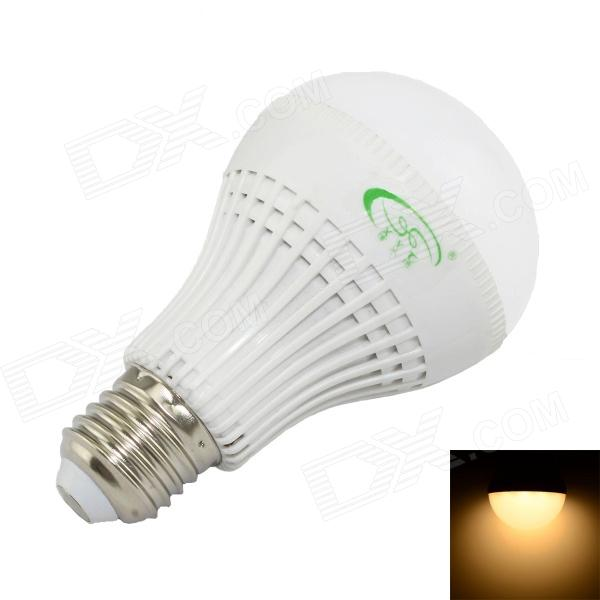 XinYiTong CF-LED-208-2 E27 7W 600lm 3000K 27 x SMD 2835 LED Warm White Lamp Bulb - White (85~265V) 5pcs e27 led bulb 2w 4w 6w vintage cold white warm white edison lamp g45 led filament decorative bulb ac 220v 240v