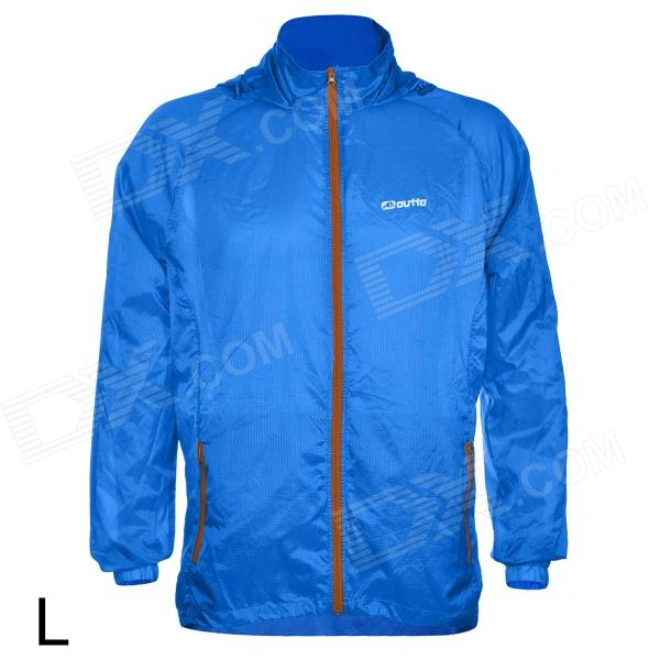 Outto #009A Sports Ultrathin Cycling Running Polyester Jacket - Blue (L)