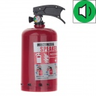 Stylish Portable 3.5mm Fire Extinguisher Style Multimedia Speaker - Red + Black