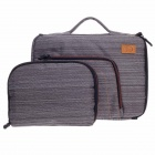 "Tee 15"" Shock-Proof Water Resistant One-shoulder Sleeves Bag w/ Handle for Notebook - Grey + White"