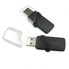 Ourspop P7 Crystal USB 2.0 Flash Drive - Black + Transparent (16GB)