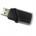 Ourspop P7 cristal USB 2.0 flash drive - preto + transparente (64GB)