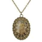 Retro Aluminum Alloy Treasure Box Style Pendant Necklace - Antique Brass