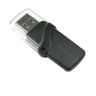 Ourspop P7 Crystal USB 2.0 Flash Drive - Black + Transparent (4GB)