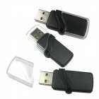 Ourspop P7 Cristal USB 2.0 Flash Drive - Preto + Transparente (4GB)
