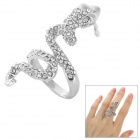 Strass-Schlange-Art-Finger-Ring - Silber